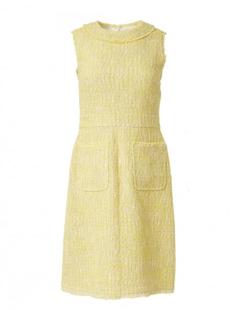 L.K. Bennett - Amalia Yellow Cotton Tweed Dress
