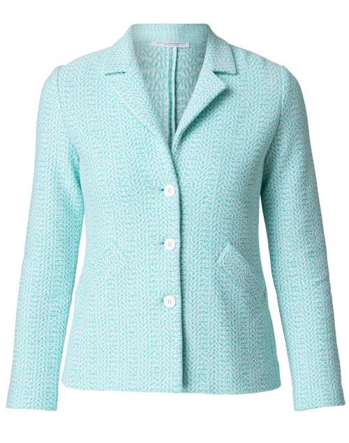 Amina Rubinacci - Cerchio Green and White Linen Cotton Jacket