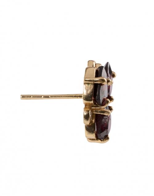 Atelier Mon - Red Garnet and Zirconia Gemstone Stud Earrings