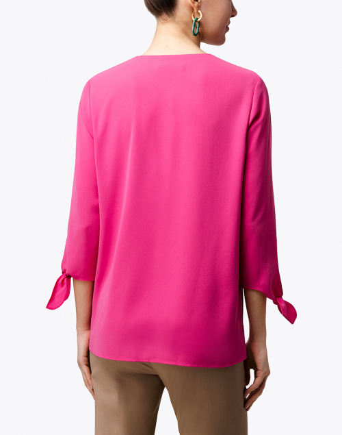 BOSS Hugo Boss - Lalami Magenta Tie Sleeve Top