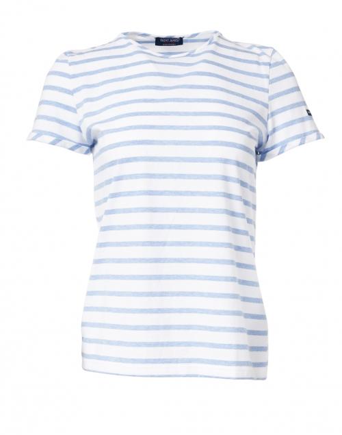 Saint James - Villefranche White and Denim Blue Striped Top
