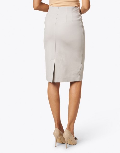 Peace of Cloth - Logan Silver Knit Pull-on Skirt