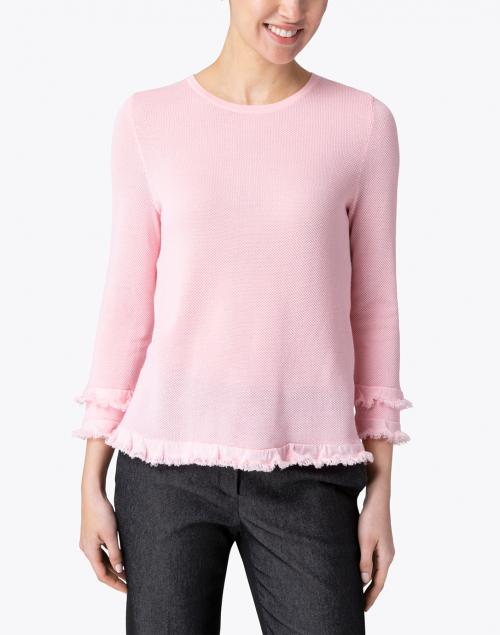 Belford - Light Pink Cotton Ruffle Sleeve Sweater