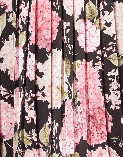 Helene Berman - Pink Floral Pleated Midi Skirt