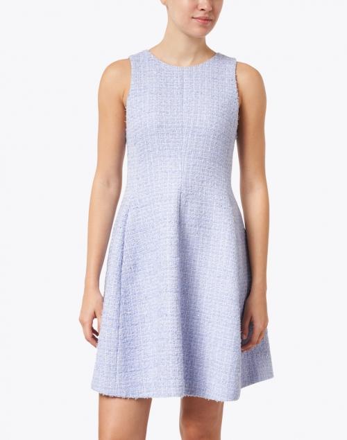 Emporio Armani - Light Blue Lurex Tweed Dress