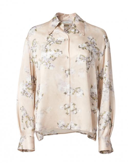 Vince Hazy Blossom Print Silk Blouse