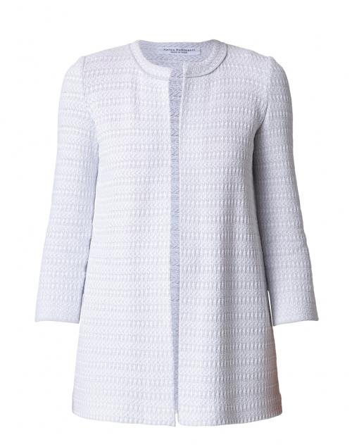 Amina Rubinacci Codorna Pale Grey and White Jacket