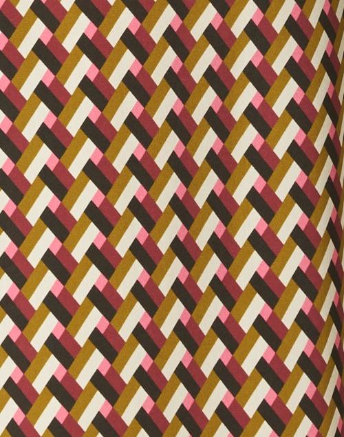 Aspesi - Mustard and Pink Geo Printed Silk Dress
