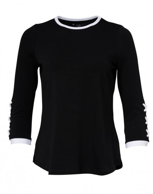 E.L.I. - Black Stretch Pima Cotton Top
