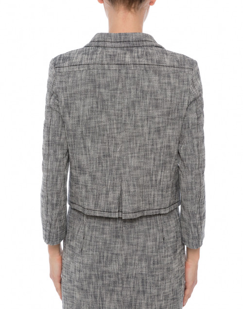 Piazza Sempione - Black and White Textured Cropped Jacket