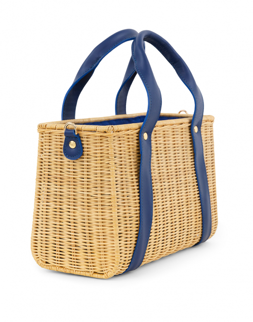 Kayu - Daisy Blue Wicker Bag