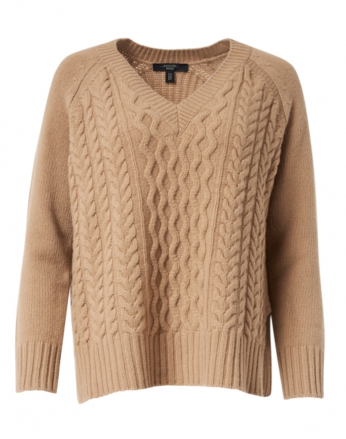 Weekend Max Mara - Vik Camel Wool Cable Knit Sweater