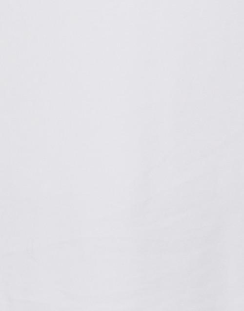 E.L.I. - White Pima Cotton Ruched Sleeve Tee