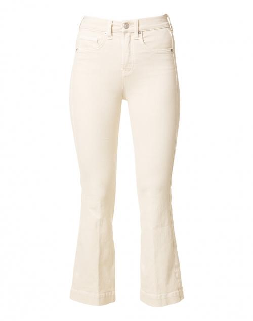 Veronica Beard Carson Ecru High Rise Ankle Flare Stretch Denim Jean