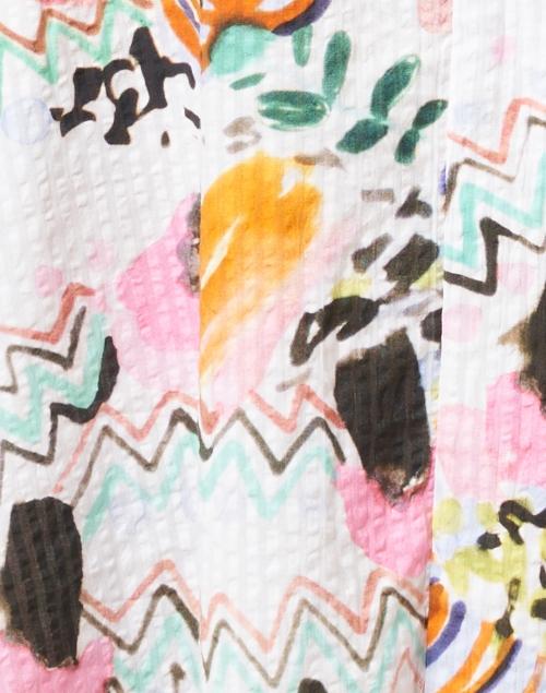 Soler - Manuela ZigZag White Print Cotton Dress