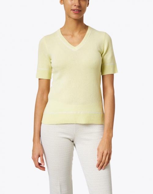 Kinross - Citrus Lime Cashmere Knit Top