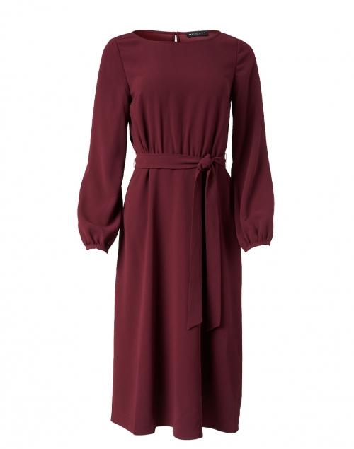 Tara Jarmon Rilly Bordeaux Satin Dress