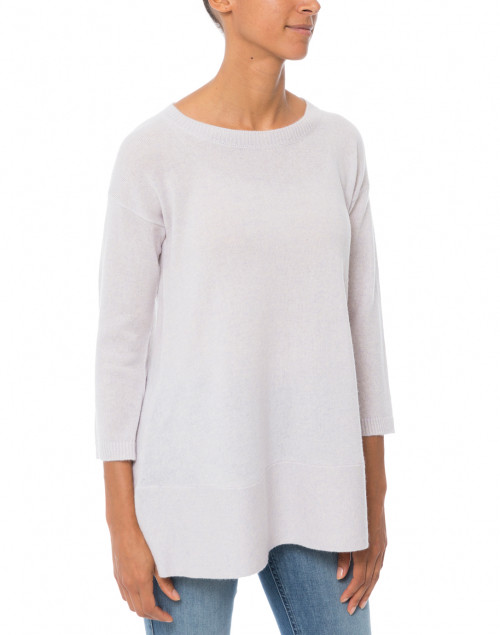 Cortland Park - Saint Tropez Light Grey Cashmere Swing Sweater