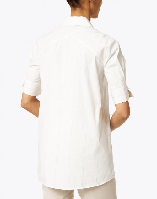 Lafayette 148 New York - Boyes White Stripe Stretch Cotton Top