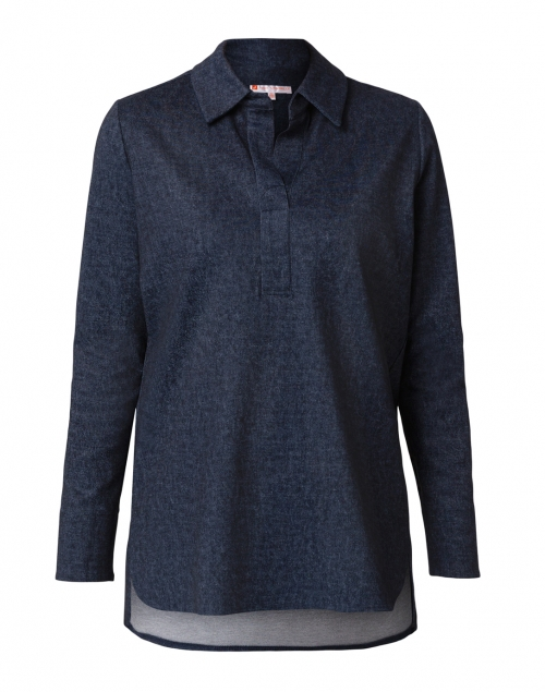 Jude Connally - Hadley Navy Denim Henley Top