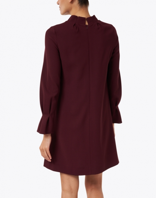 Goat - Elodie Plum Wool Crepe Tunic Dress