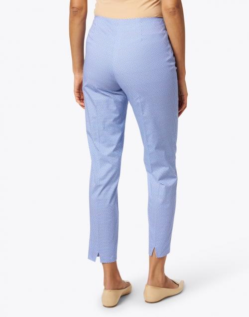 Piazza Sempione - Monia Blue and White Micro Dot Cotton Stretch Pant