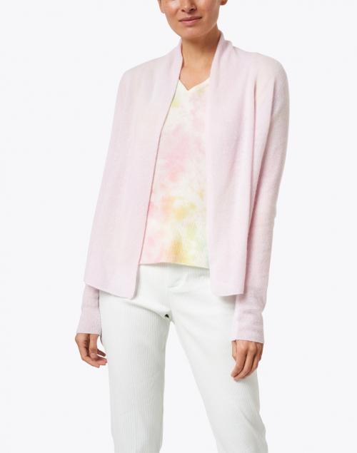 White + Warren - Lilac Shell Essential Cashmere Cardigan