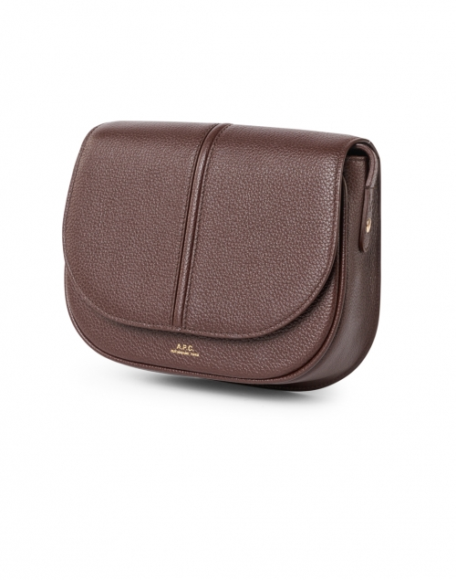 A.P.C. - Betty Dark Brown Grained Leather Crossbody Bag
