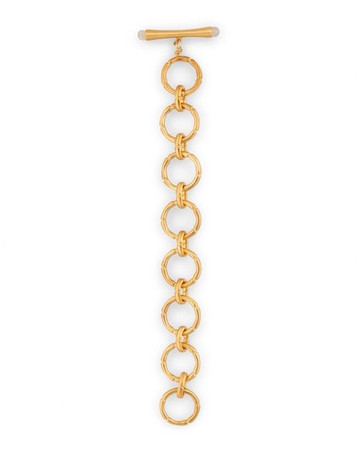 Dean Davidson - Gold and Moonstone Bamboo Link Bracelet