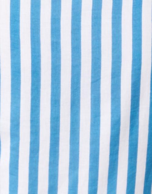 Oliphant - Playa Blue and White Stripe Cotton Poplin Dress