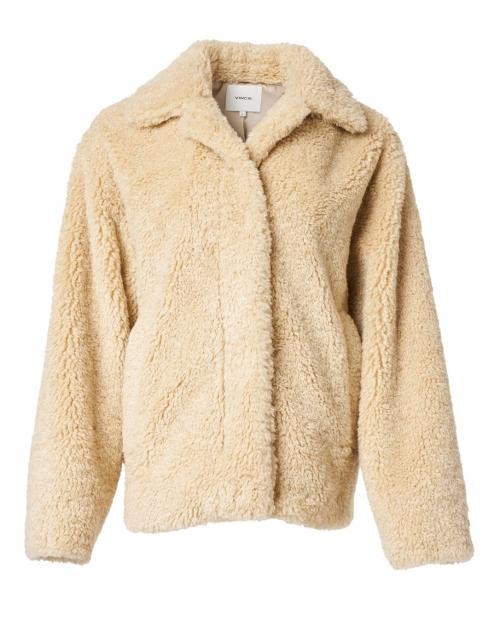 Vince Tan Faux Fur Teddy Coat