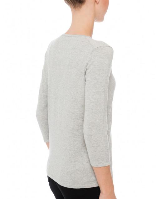 Belford - Heather Grey Crew Neck Cotton Sweater