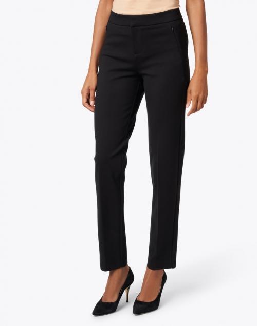 Ecru - Lombard Black Slim Leg Stretch Trouser