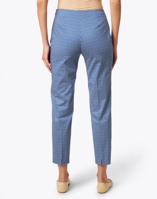 Piazza Sempione - Monia Blue and White Circle Print Stretch Cotton Pant