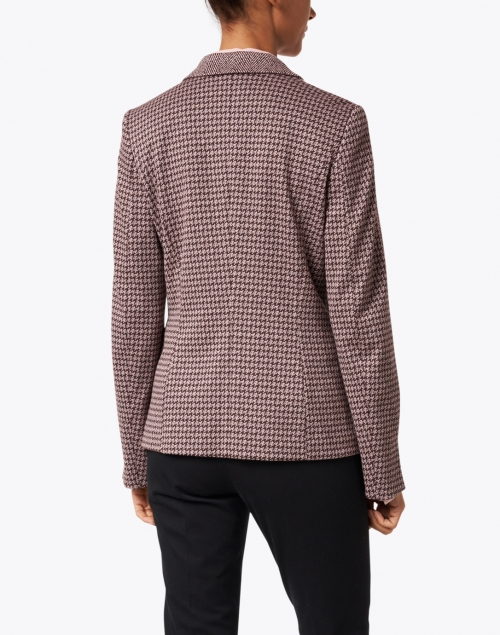 Marc Cain - Plum and Ecru Herringbone Printed Blazer