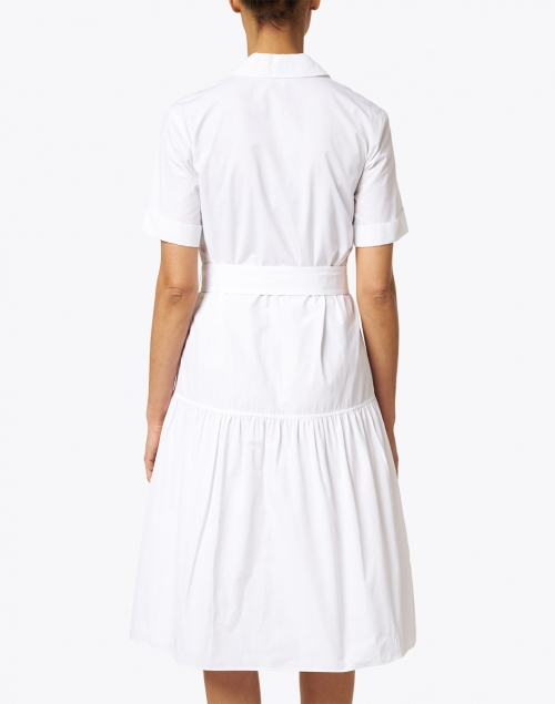 Lafayette 148 New York - Orion White Cotton Shirt Dress