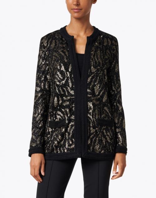 Les Copains - Animal Jacquard Sequin Jacket