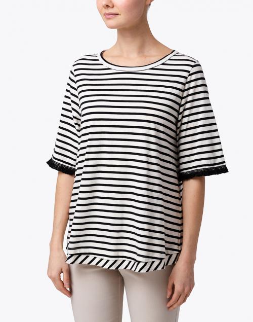 Seventy - Black and White Striped Cotton Top