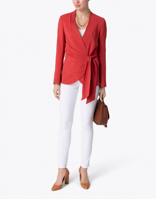 Santorelli - Lavia Red Blazer Jacket