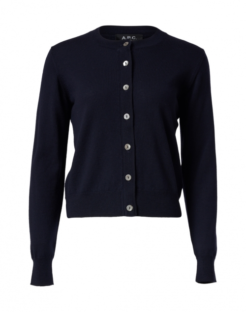 A.P.C. - Navy Merino Button Down Cardigan