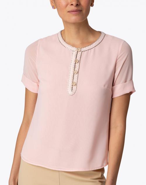 Edward Achour - Pink Embellished Blouse