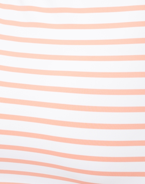 Saint James - Propriano White and Coral Striped Jersey Dress