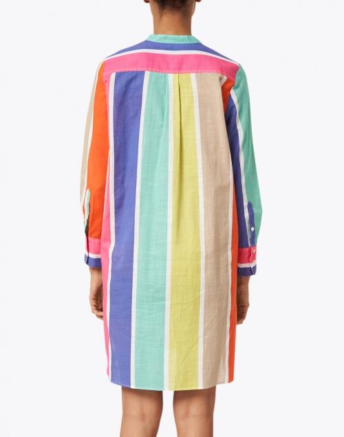 Vilagallo - Danett Multicolored Stripe Cotton Dress