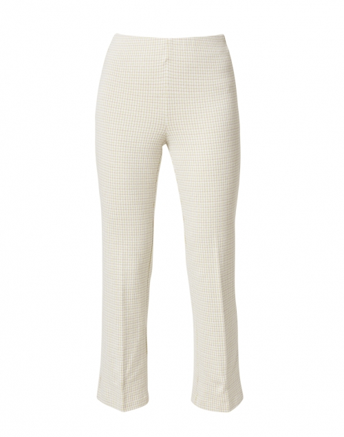 Ecru - Prince Lime and White Check Stretch Cotton Pant