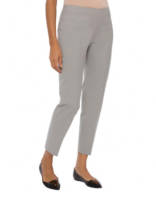 Piazza Sempione - Monia Pale Grey Stretch Cotton Pant