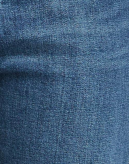 Weekend Max Mara - Ecru Blue Stretch Cotton Straight Leg Jean