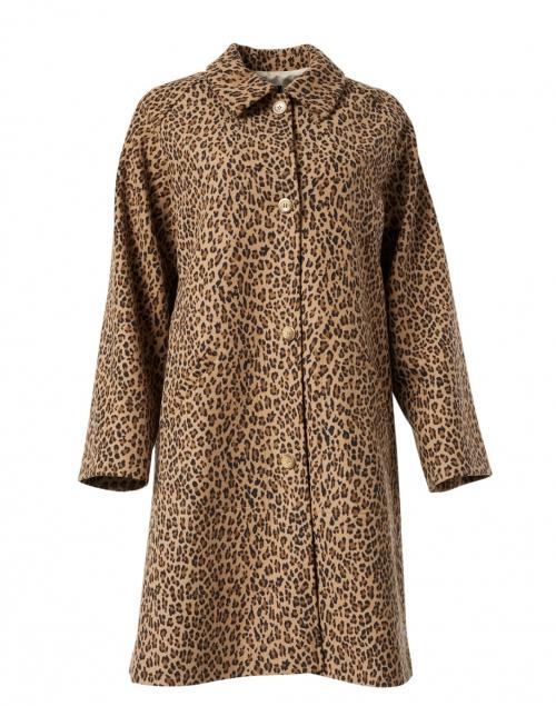 A.P.C. Alice Camel Leopard Printed Overcoat