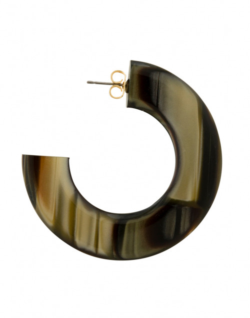 Pono by Joan Goodman - Gia Gold and Brown Resin Hoop Earrings
