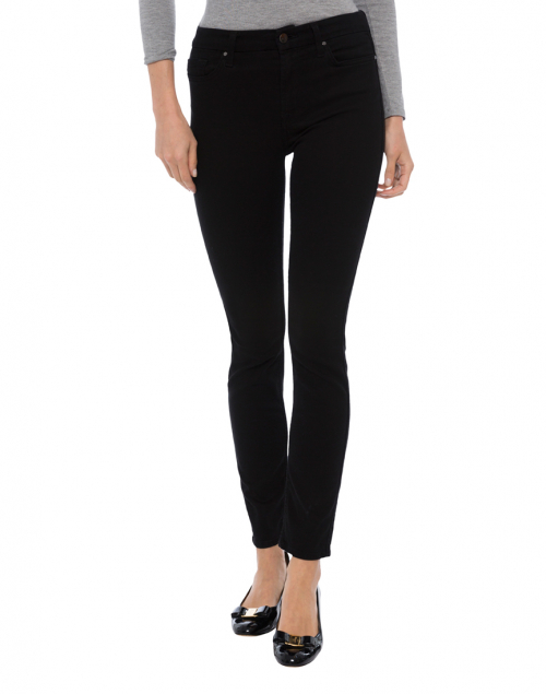 Jen7 - Riche Touch Black Noir Skinny Ankle Denim Jean