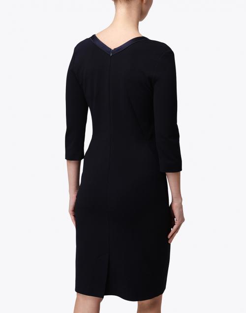 Piazza Sempione - Navy Elbow Sleeve Dress